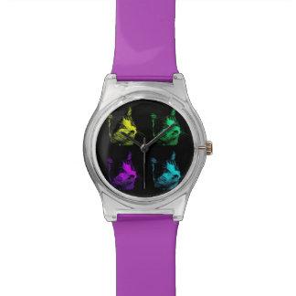 4色猫の腕時計 腕時計