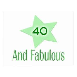 40およびすばらしい ポストカード