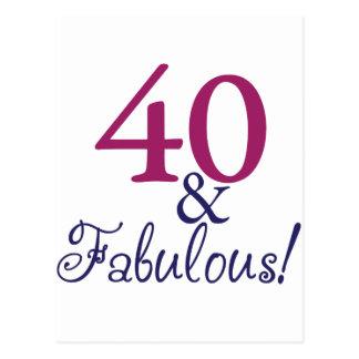 40およびすばらしい(第40誕生日) ポストカード
