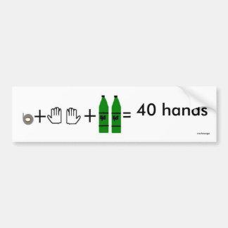 40の手、40の手、nashnooga バンパーステッカー