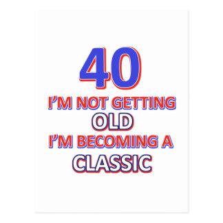 40の誕生日のデザイン ポストカード