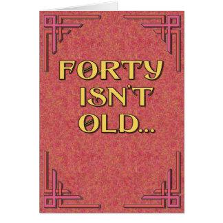 40は古くないです カード