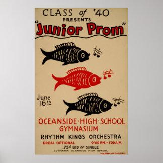 40プレゼントの後輩のプロムのヴィンテージポスターのクラス ポスター