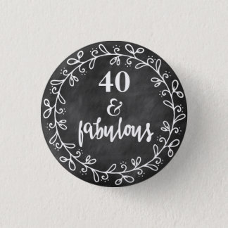 40及びすばらしい-第40誕生日のカスタムボタン 3.2CM 丸型バッジ