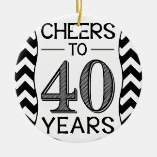 40年への応援 セラミックオーナメント