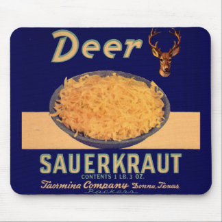 40年代のシカの塩漬けキャベツのラベル マウスパッド