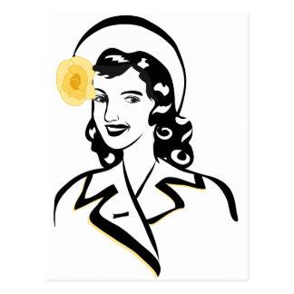 40年代の女性 ポストカード