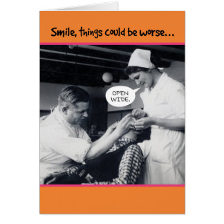 40年代の歯科医の事はより悪い第40誕生日であることができます グリーティングカード