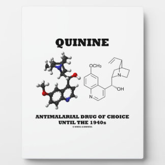 40年代までの選択のキニーネの抗マラリア剤 フォトプラーク