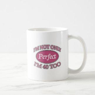 40歳を完成して下さい コーヒーマグカップ