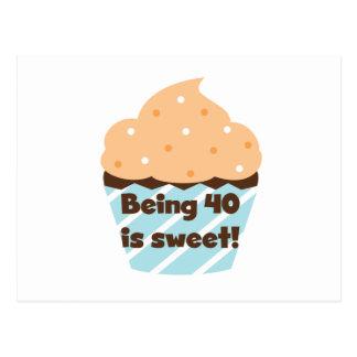 40甘い誕生日のTシャツおよびギフトですであることは ポストカード