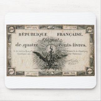 400のLivresのフランス革命のAssignatの銀行券 マウスパッド