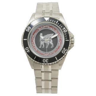 [400]バビロニア人によって飛ぶBull [銀] [3D] 腕時計