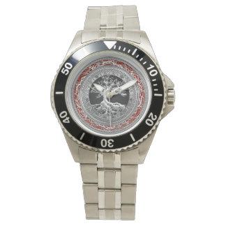 [400]埋蔵物: [銀]ケルト族の生命の樹 腕時計