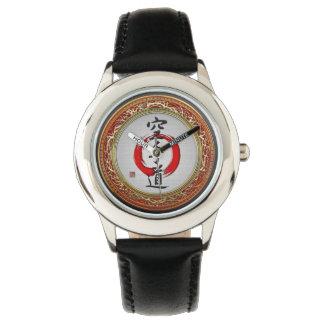 [400]日本のな書道-空手 腕時計