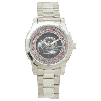 [400]黒の神聖な銀製の蠍 腕時計