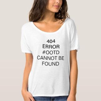 404人の間違いの#OOTDの見つけられなかった女の子のワイシャツ Tシャツ