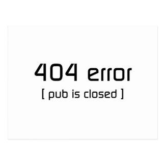 404間違い-パブは閉鎖しています ポストカード