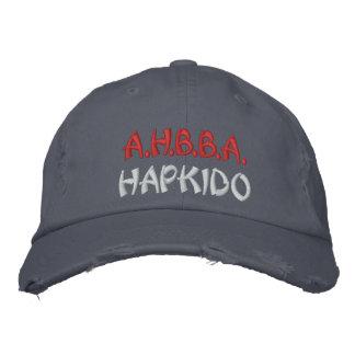404 AHBBA Hapkidoの青の帽子 刺繍入りキャップ