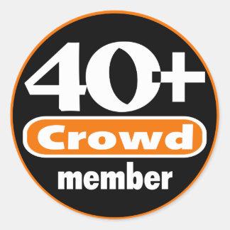 40+ 群集のステッカー ラウンドシール