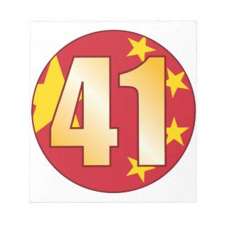 41中国の金ゴールド ノートパッド