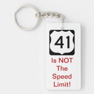 41制限速度はありません! キーホルダー