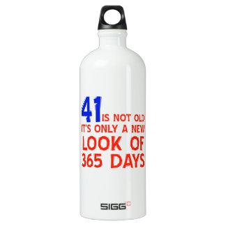41歳の誕生日のデザイン ウォーターボトル