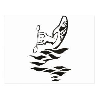 41隻のカヤックの船尾 ポストカード