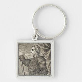 41 - 54広告からのローマのD. Claudiusシーザー皇帝 キーホルダー