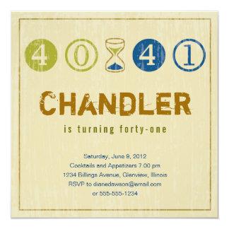 41th誕生日の招待状-カスタマイズ カード