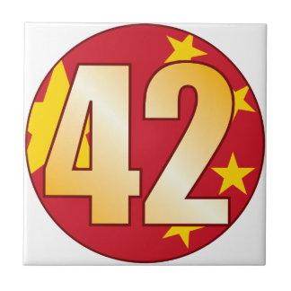 42中国の金ゴールド タイル
