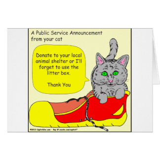 420は動物保護施設の漫画に寄付します カード