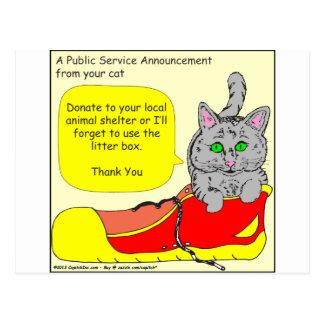 420は動物保護施設の漫画に寄付します ポストカード