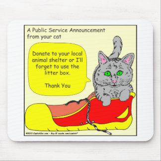 420は動物保護施設の漫画に寄付します マウスパッド