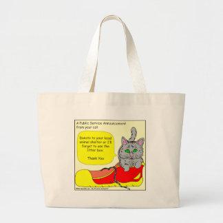 420は動物保護施設の漫画に寄付します ラージトートバッグ