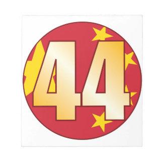 44中国の金ゴールド ノートパッド