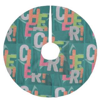 """44""""の直径のメリークリスマスの木の装飾まわりを回って下さい ブラッシュドポリエステルツリースカート"""