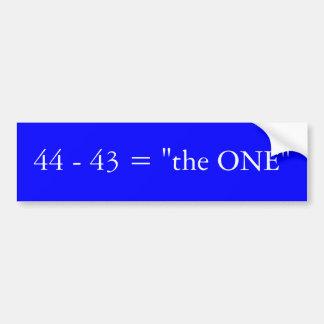 """44 - 43 = """"1つ"""" バンパーステッカー"""