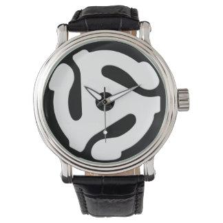45のrpmの記録的なアダプターの腕時計 腕時計