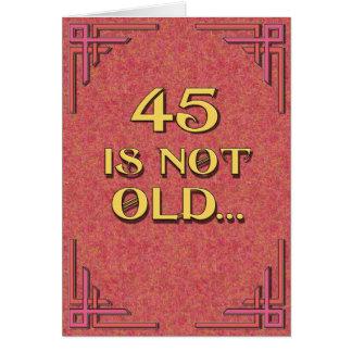 45は古くないです カード