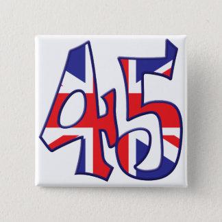 45年齢イギリス 5.1CM 正方形バッジ