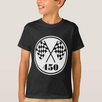 450チェック模様の旗 Tシャツ
