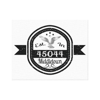 45044 Middletownに確立される キャンバスプリント
