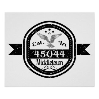 45044 Middletownに確立される ポスター