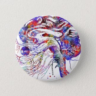 4522bBrain頭蓋神経、頭脳の頭蓋神経 缶バッジ