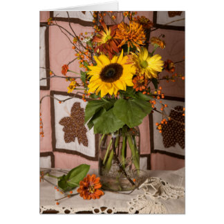 4531感謝祭の花の挨拶状 カード