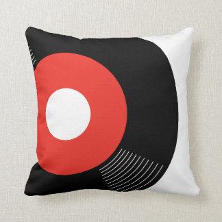 45s記録的な枕(赤い) -正方形 クッション