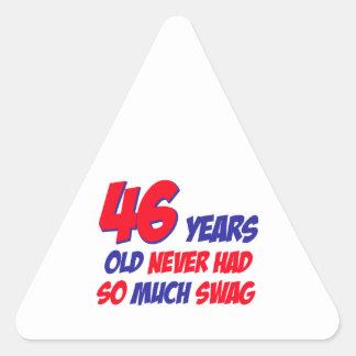 46の誕生日のデザイン 三角形シール