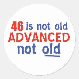 46歳の誕生日のデザイン ラウンドシール