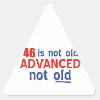 46歳の誕生日のデザイン 三角形シール